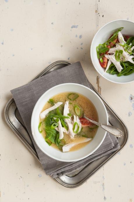Instant Suppe Med Kylling Og Spinat Kræftens Bekæmpelse